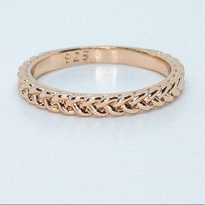 Twist 925 Sterling Silver Plated Rose Gold